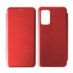 Кожаный чехол-книжка 360 с визитницей для Xiaomi Poco M3 – Red