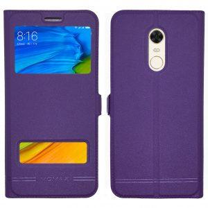Кожаный чехол-книжка Moмax для Xiaomi Redmi 5 Plus – Violet