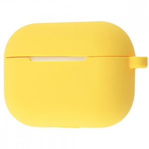 Чехол для наушников Silicone Case New + карабин для Apple Airpods Pro – Yellow
