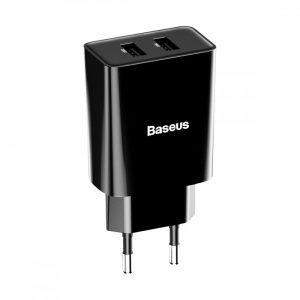 Сетевое зарядное устройство Baseus Speed Mini Dual U Charger 10.5W 2USB – Black
