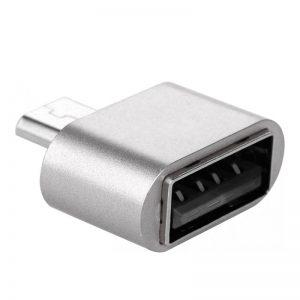 Адаптер OTG USB to MicroUSB – Silver