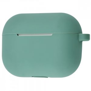 Чехол для наушников Silicone Case New + карабин для Apple Airpods Pro – Pine green