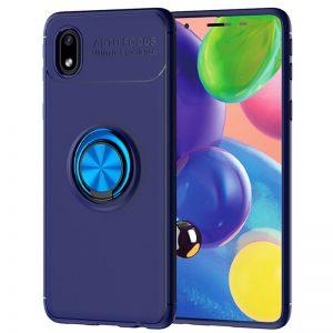 Cиликоновый чехол Deen ColorRing c креплением под магнитный держатель для Samsung Galaxy A01 Core / M01 Core  – Синий