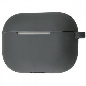 Чехол для наушников Silicone Case New + карабин для Apple Airpods Pro – Dark gray