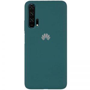 Оригинальный чехол Silicone Cover 360 с микрофиброй для Huawei Honor 20 Pro – Зеленый / Pine green