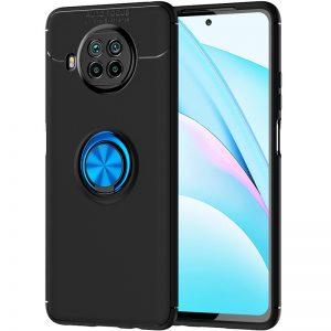 Cиликоновый чехол Deen ColorRing c креплением под магнитный держатель для Xiaomi Mi 10T Lite – Черный / Синий