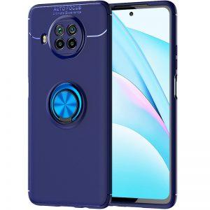 Cиликоновый чехол Deen ColorRing c креплением под магнитный держатель для Xiaomi Mi 10T Lite – Синий