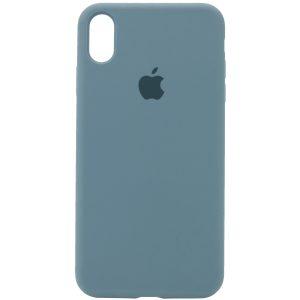 Оригинальный чехол Silicone Case 360 с микрофиброй для Iphone X / XS – Зеленый / Pine green