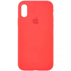 Оригинальный чехол Silicone Case 360 с микрофиброй для Iphone XR – Оранжевый / Pink citrus