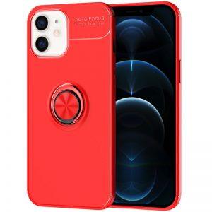 Cиликоновый чехол Deen ColorRing c креплением под магнитный держатель для Iphone 12 Mini – Красный