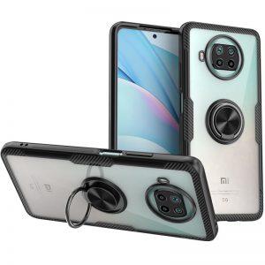 Cиликоновый чехол Deen CrystalRing c креплением под магнитный держатель для Xiaomi Mi 10T Lite – Черный
