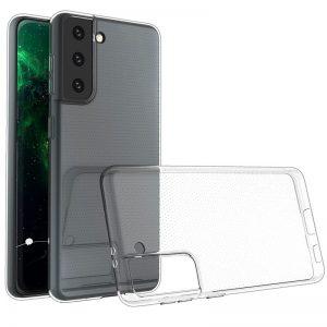 Прозрачный силиконовый TPU чехол для Samsung Galaxy S21 Plus