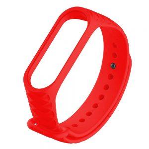 Силиконовый ремешок Rhomb для Xiaomi Mi Band 3 / 4 – Красный