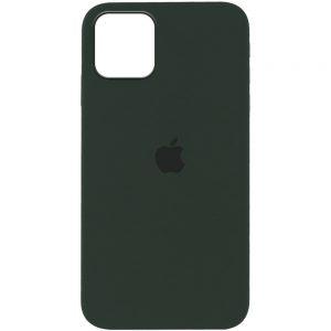 Оригинальный чехол Silicone Cover 360 с микрофиброй для Iphone 12 Pro / 12 – Зеленый / Cyprus Green
