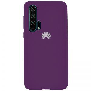 Оригинальный чехол Silicone Cover 360 с микрофиброй для Huawei Honor 20 Pro – Фиолетовый / Grape