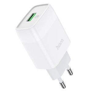Сетевое зарядное устройство Hoco C72Q Qualcomm Quick Charge 3.0 1USB / 18W – White
