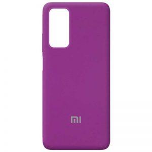 Оригинальный чехол Silicone Cover 360 с микрофиброй для Xiaomi Mi 10T / Mi 10T Pro – Фиолетовый / Grape