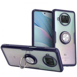 Cиликоновый чехол Deen CrystalRing c креплением под магнитный держатель для Xiaomi Mi 10T Lite – Темно-синий