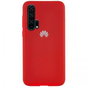 Оригинальный чехол Silicone Cover 360 с микрофиброй для Huawei Honor 20 Pro – Красный / Red