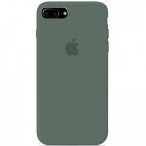 Оригинальный чехол Silicone Case 360 с микрофиброй для Iphone 7 Plus / 8 Plus – Зеленый / Pine green