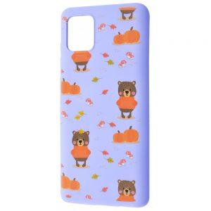 TPU чехол WAVE Fancy Case для Samsung Galaxy Note 10 Lite – Autumn bears / Light purple