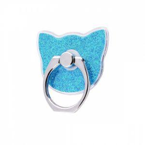Кольцо держатель Gold Shining Kitty – Blue