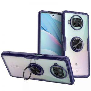 Cиликоновый чехол Deen CrystalRing c креплением под магнитный держатель для Xiaomi Mi 10T Lite – Синий