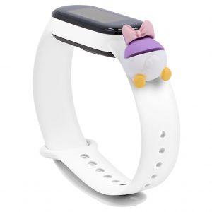 Силиконовый ремешок Cartoon Face для Xiaomi Mi Band 5 / 6 – Белый / Поночка