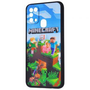Чехол TPU+PC Game Heroes Case для Samsung Galaxy M31 – Minecraft