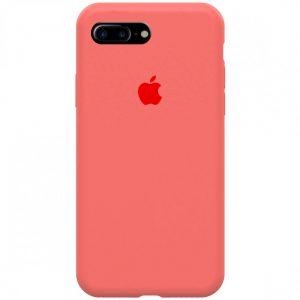 Оригинальный чехол Silicone Case 360 с микрофиброй для Iphone 7 Plus / 8 Plus – Розовый / Flamingo