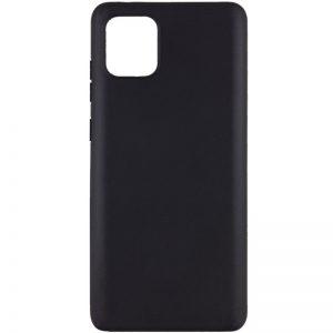 Матовый силиконовый TPU чехол для Samsung Galaxy Note 10 Lite  – Черный