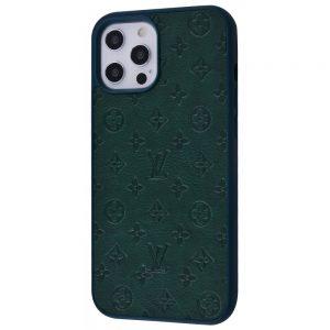 Чехол TPU+PC Louis Vuitton Case для Iphone 12 / 12 Pro – Dark green