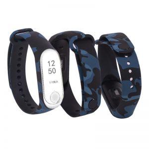 Ремешек для фитнес-браслета Xiaomi Mi Band 5 / 6 с рисунком – Хаки / Синий
