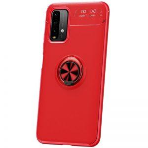 Cиликоновый чехол Deen ColorRing c креплением под магнитный держатель для Xiaomi Redmi 9T – Красный