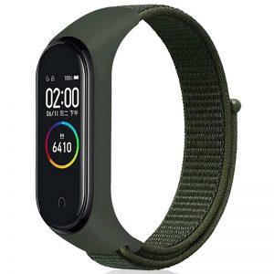 Ремешок Nylon для фитнес-браслета Xiaomi Mi Band 3 / 4 – Зеленый