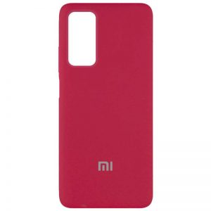 Оригинальный чехол Silicone Cover 360 с микрофиброй для Xiaomi Mi 10T / Mi 10T Pro – Красный / Rose Red