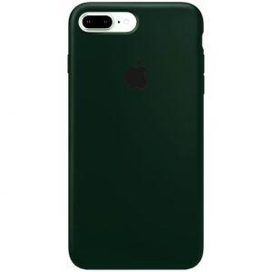 Оригинальный чехол Silicone Case 360 с микрофиброй для Iphone 7 Plus / 8 Plus – Зеленый / Army green