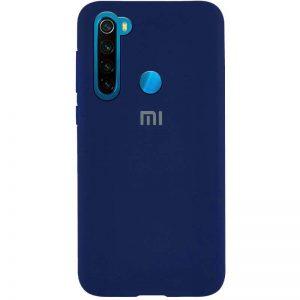 Оригинальный чехол Silicone Cover 360 с микрофиброй для Xiaomi Redmi Note 8T – Темно-синий / Midnight blue