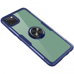 Cиликоновый чехол Deen CrystalRing c креплением под магнитный держатель для Realme C11 (2020) – Синий