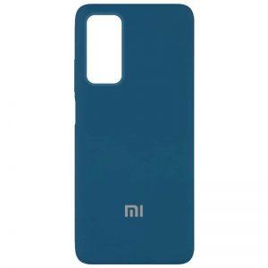 Оригинальный чехол Silicone Cover 360 с микрофиброй для Xiaomi Mi 10T / Mi 10T Pro – Синий / Cosmos blue