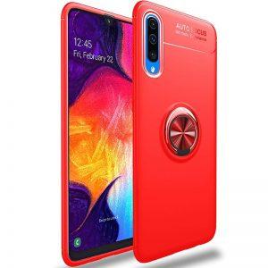 Cиликоновый чехол Deen ColorRing c креплением под магнитный держатель для Samsung Galaxy A50 2019 (A505) / A30s 2019 (A307) – Красный