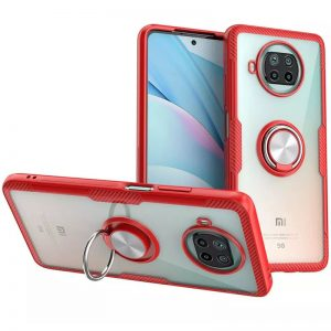 Cиликоновый чехол Deen CrystalRing c креплением под магнитный держатель для Xiaomi Mi 10T Lite – Красный