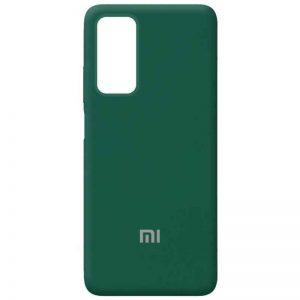 Оригинальный чехол Silicone Cover 360 с микрофиброй для Xiaomi Mi 10T / Mi 10T Pro – Зеленый / Pine Needle