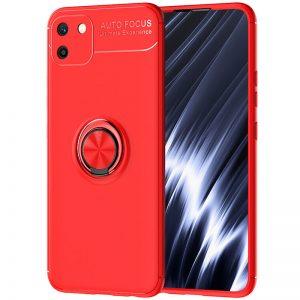 Cиликоновый чехол Deen ColorRing c креплением под магнитный держатель для Realme C11 (2020) – Красный