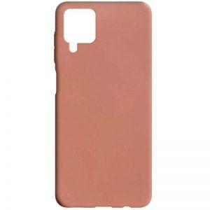 Матовый силиконовый TPU чехол для Samsung Galaxy A12 / M12 – Rose Gold