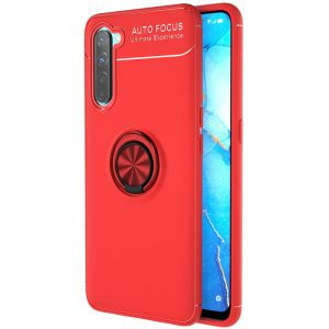 Cиликоновый чехол Deen ColorRing c креплением под магнитный держатель для Realme 6 Pro – Красный