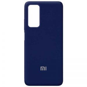 Оригинальный чехол Silicone Cover 360 с микрофиброй для Xiaomi Mi 10T / Mi 10T Pro – Темно-синий / Midnight blue