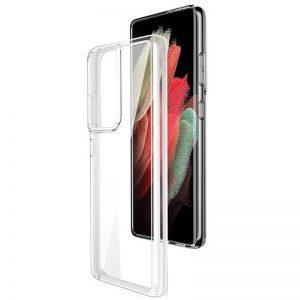 Прозрачный силиконовый TPU чехол для Samsung Galaxy S21 Ultra