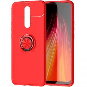 Cиликоновый чехол Deen ColorRing с креплением под магнитный держатель для Xiaomi Redmi 8 / 8A – Красный
