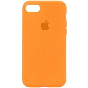 Оригинальный чехол Silicone Case 360 с микрофиброй для Iphone 7 / 8 / SE (2020) – Оранжевый / Papaya
